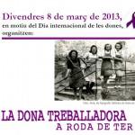 cartell dona treballadora